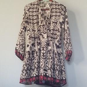 🧡3/$20 WAYF Sheer Boho Tribal Flowing Dress